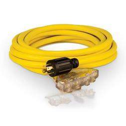 25 ft 240 Volt Generator Power Cord Weather Resistant 20 Amp