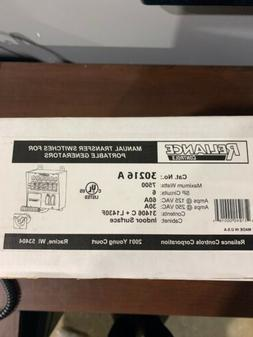 Reliance Controls 30216A 6-Circuit Transfer Switch