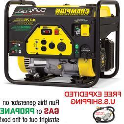 CHAMPION 3500-Watt Dual Fuel RV Ready Portable Generator W/