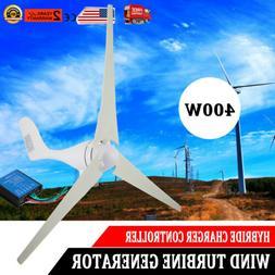 400W Max Power 3 Blades DC 12V Wind Turbine Generator Kit Wi