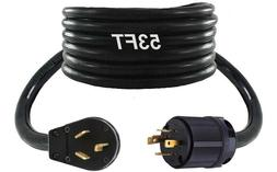 53FT Generator Back Feed Jumper Adapter Cable Twist Lock L14