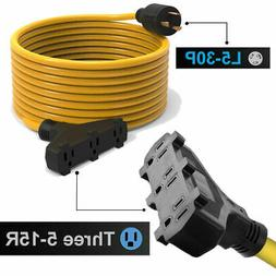 Generator Extension Cord 25 Ft 3 Prong Power Cable 10 3 30 A