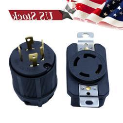 GENERATOR RV AC PLUG & SOCKET L14-30 30 AMP 120V 220V MALE &