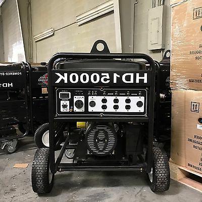 15000 Generator Duty Kohler 23.5HP Made is Engine Electric Start!