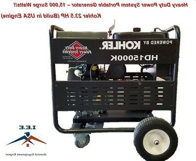 15000 watt generator heavy duty kohler 23