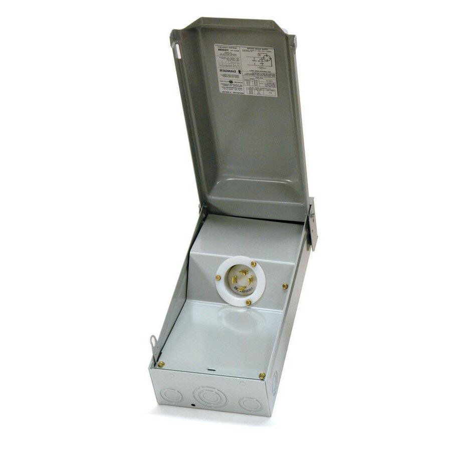 GE 30-Amp Generator Power Inlet Box L14-30 receptacles 120/2