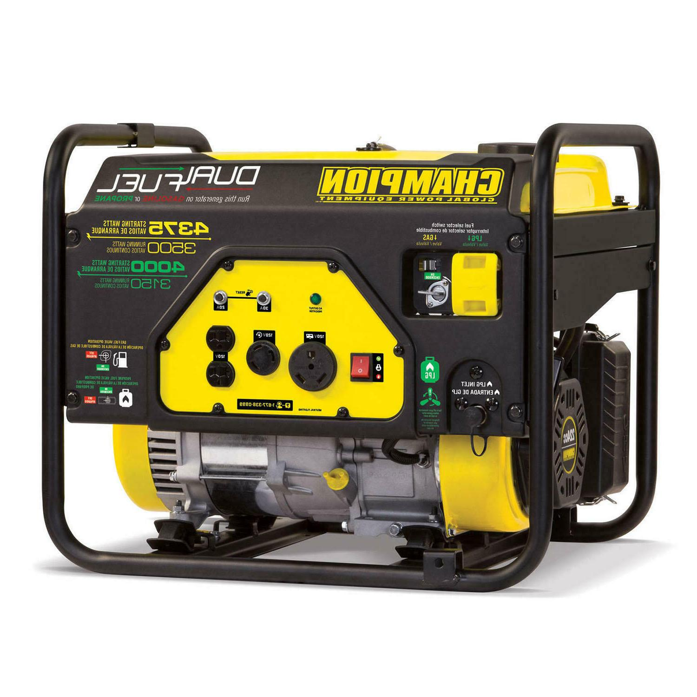 3500w 4375w dual fuel generator