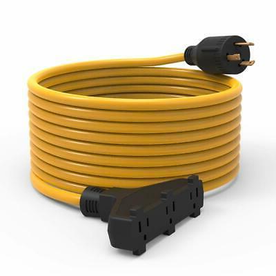 generator extension cord 25 feet 30a 3750w