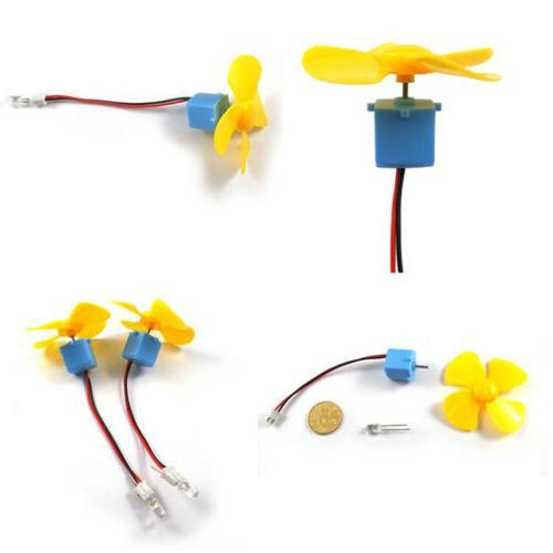 Micro Wind DC Motor LED Fan Display Kids DIY