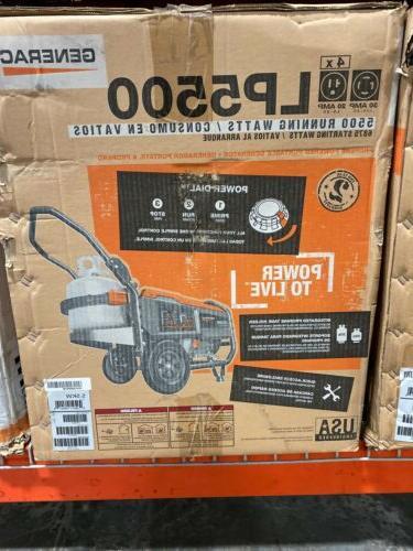 portable generator lp 5500