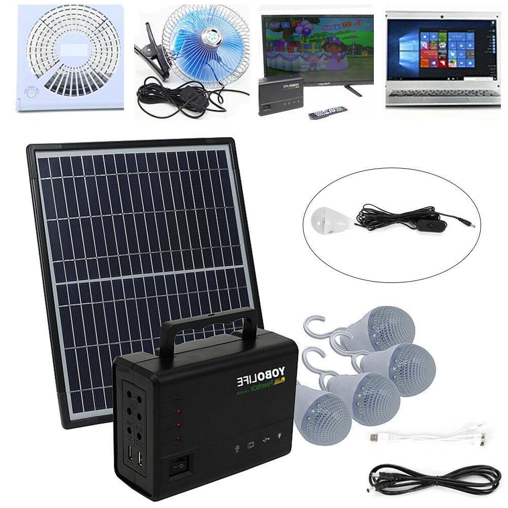 Solar Power Generator Power Bulb