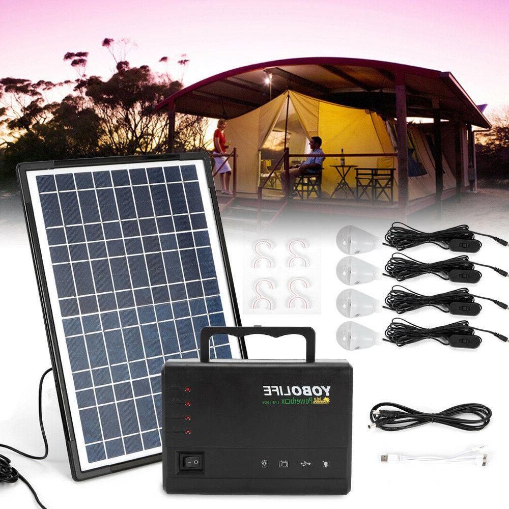 solar panel power generator kit portable battery