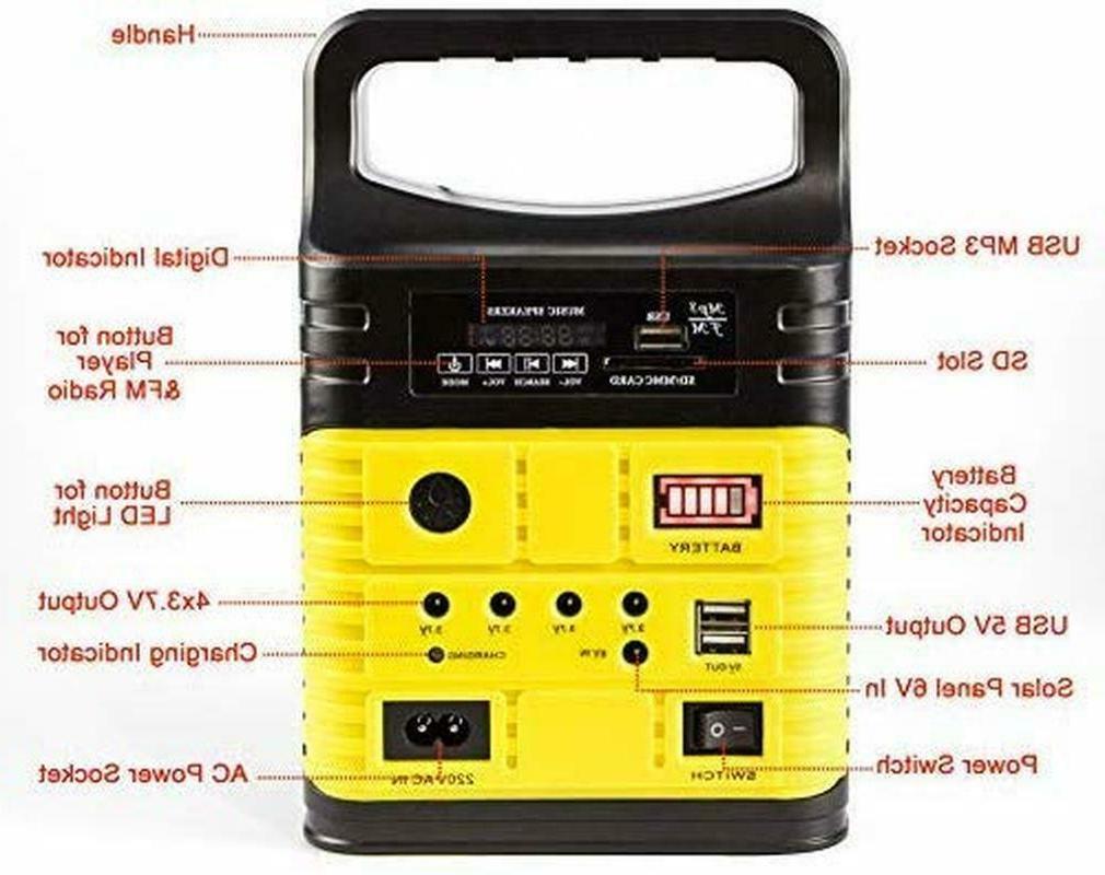Solar Power LED Light System FM Outdoor Green