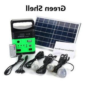solar power panel generator led light usb