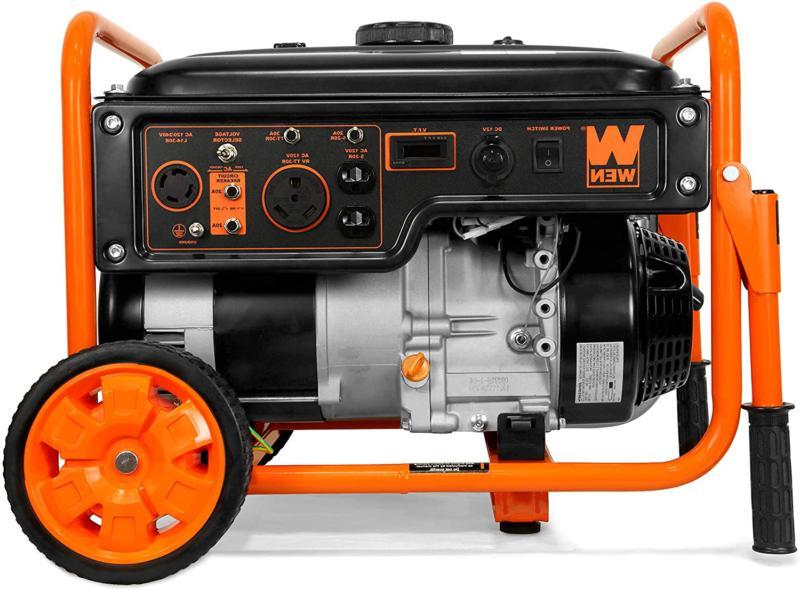 Wen 56500 5000-Watt Rv-Ready 120V/240V Generator Wheel Black