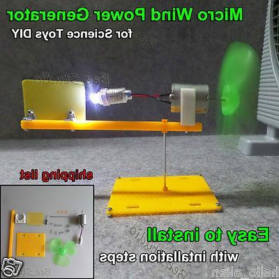 wind turbines generator model mini dc motor