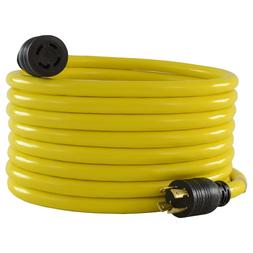 Long Generator Extension Cord L14-30 4-Prong 30 Amp Garage S