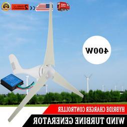 400W Hybrid Wind Turbine Generator 3 Blades DC 12V Kit With