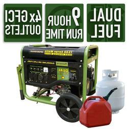 New 6000 Watt Portable Generator Wheels 13hp 4 Stroke Engine