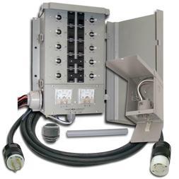 Portable Generator G2 Manual Transfer Switch Kit 30 Amp 8 Sp