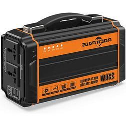 Rockpals 250-Watt Portable Generator Rechargeable Lithium Ba