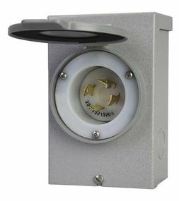 Power Watertight Electrical Inlet Box Outdoor 30 Amps Patent