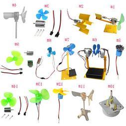 Small Wind Turbines Generator DC Motor LED Display Kids Toy