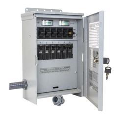 NEW Outdoor 30-Amp 250-Volt 7500-Watt 6-Circuit Generator Tr