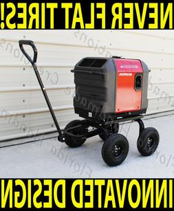 Wagon Style All Terrain Wheel Kit for Honda Generator EU3000