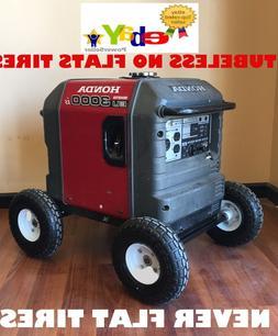 Wheel Kit for Honda Generator EU3000is - SOLID NEVER FLAT TI